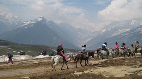 Rohtang Pass in the Himalayas Stock Images