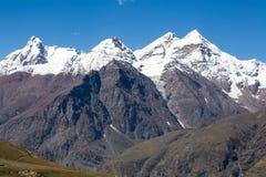 Rohtang passerande, som är på vägen Manali - Leh Indien Himachal Pradesh Royaltyfri Foto