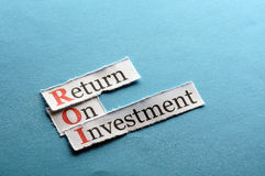 Roi  abbreviation Stock Images
