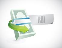 Roi bills sign illustration design Stock Image