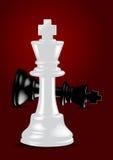 Roi blanc d'échecs - gagnant - vecteur illustration de vecteur