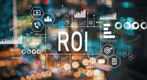 ROI with blurred city lights. ROI with blurred city abstract lights background royalty free illustration