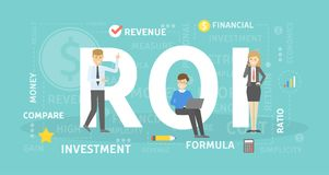 ROI concept illustration. Idea of investment and revenue Stock Image