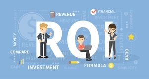 ROI concept illustration. Idea of investment and revenue Stock Photo