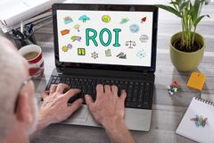 Free Roi Concept On A Laptop Screen Royalty Free Stock Image - 184438836