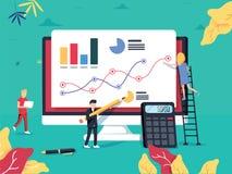 ROI Concept Rentabilidad de la inversión Márketing de negocio del ROI Profi ilustración del vector
