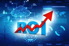 ROI Concept Retour sur l'investissement 3d rendent illustration stock