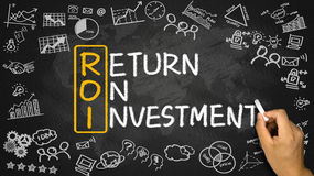 ROI concept: return on investment Stock Image
