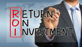 ROI concept: return on investment Stock Photography