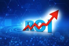 ROI concept. Return on investment. 3d render royalty free stock photos