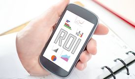 Roi concept on a smartphone. Roi concept shown on a smartphone screen vector illustration
