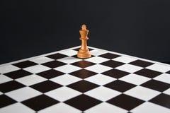 Roi d'échecs à bord Photographie stock