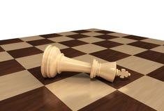 Roi d'échecs perdu Image stock