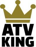 Roi d'ATV avec la couronne illustration libre de droits