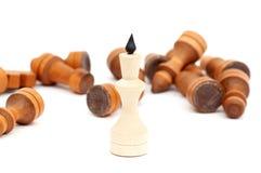 Roi d'un jeu d'échecs Photographie stock libre de droits