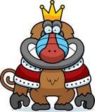 Roi de babouin de bande dessinée illustration libre de droits