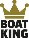 Roi de bateau avec la couronne illustration stock