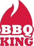 Roi de BBQ avec la flamme illustration de vecteur