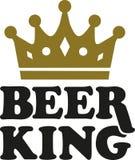 Roi de bière avec la couronne illustration stock
