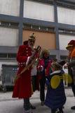 Roi de carnaval de Xanthi, Grèce dans le costume, utilisant une couronne Photos libres de droits