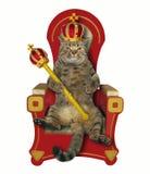 Roi de chat sur le trône illustration stock