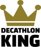 Roi de décathlon illustration de vecteur