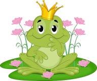 Roi de grenouille de conte de fées Photo stock
