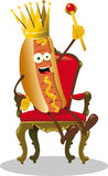 Roi de hot-dog Images stock