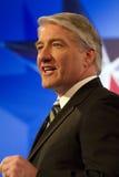 Roi de John du CNN à la discussion présidentielle 2012 de GOP Images stock