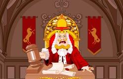 Roi de juge de coeurs avec le marteau illustration stock