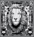 Roi de lion illustration stock