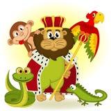 Roi de lion d'animal Images stock