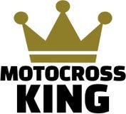 Roi de motocross avec la couronne illustration stock