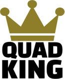 Roi de quadruple avec la couronne illustration stock