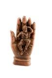Roi de singe dans la main magique de Bouddha Images libres de droits