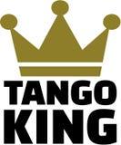 Roi de tango avec la couronne illustration stock