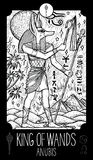 Roi des baguettes magiques anubis Illustration de Vecteur