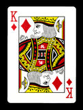 Roi des diamants jouant la carte, images stock