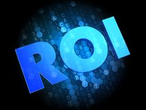 ROI on Digital Background. Stock Images