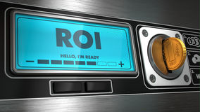 ROI on Display of Vending Machine. Stock Images
