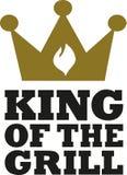 Roi du gril avec la couronne et la flamme illustration de vecteur