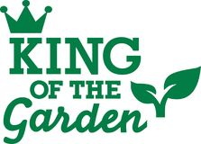 Roi du jardin illustration de vecteur