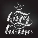 Roi du lettrage ? la maison de brosse Illustration de vecteur pour la banni?re illustration de vecteur