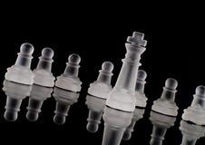 Roi en cristal givré Images libres de droits