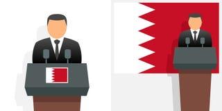 Roi et drapeau du Bahrain illustration libre de droits