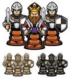 Roi et gages d'échecs illustration de vecteur