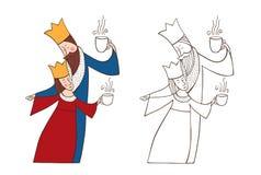 Roi et reine illustration de vecteur
