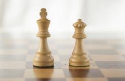 Roi et reine blancs Image libre de droits