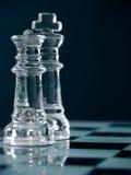 Roi et reine d'échecs Photos libres de droits