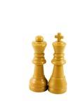 Roi et reine d'échecs Image libre de droits